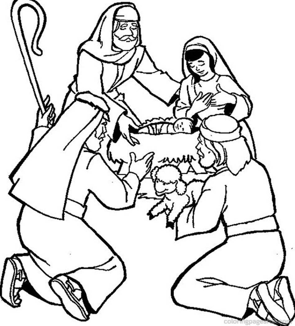 Christmas Bible Coloring Pages - Bible Story Printables | 1051x950