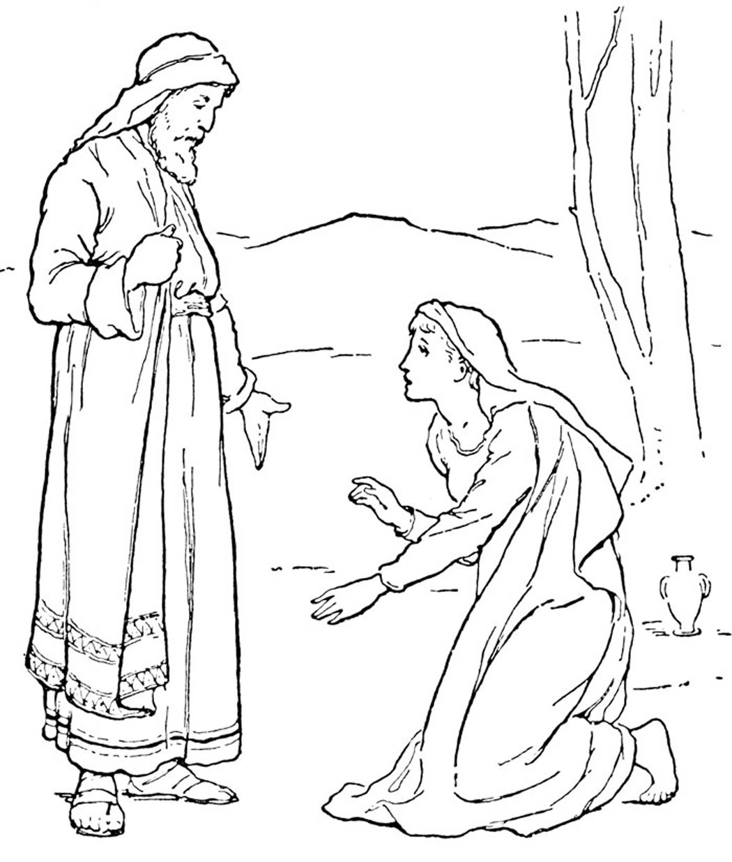 Bible Angels Coloring Pages Bible Coloring Pages