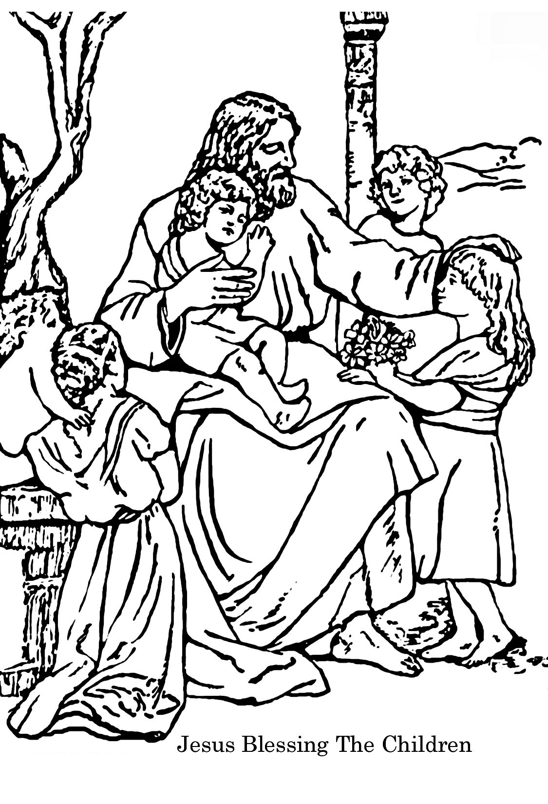 bible coloring pages to print - Christian Coloring Pages Print
