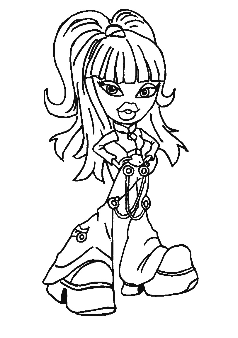 The bratz coloring pages printable - Bratz Coloring Sheets