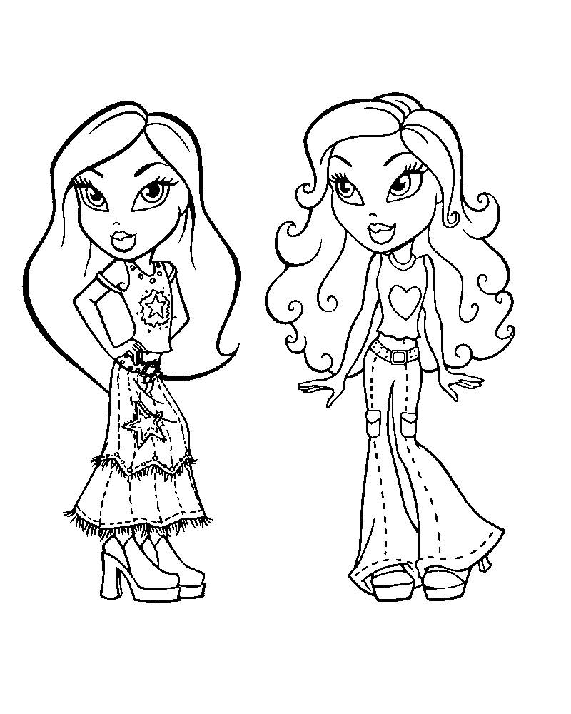 Coloring games of people - Bratz Coloring Sheets