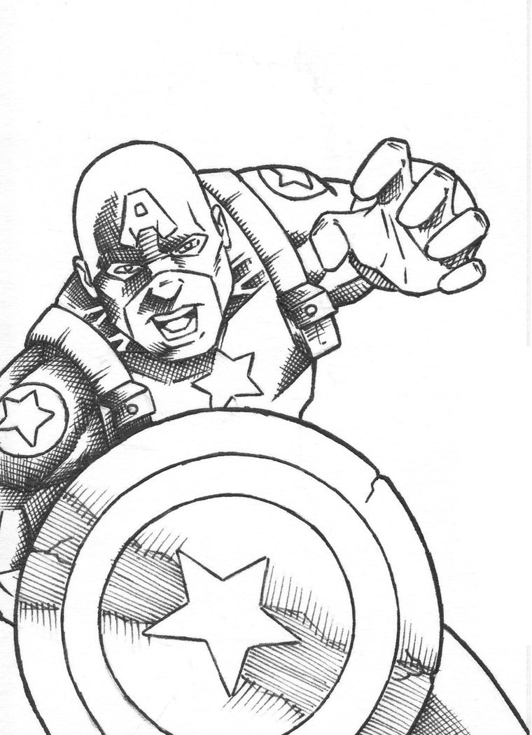 Printable Captain America Coloring Pages Coloring Me Captain America Shield Coloring Page