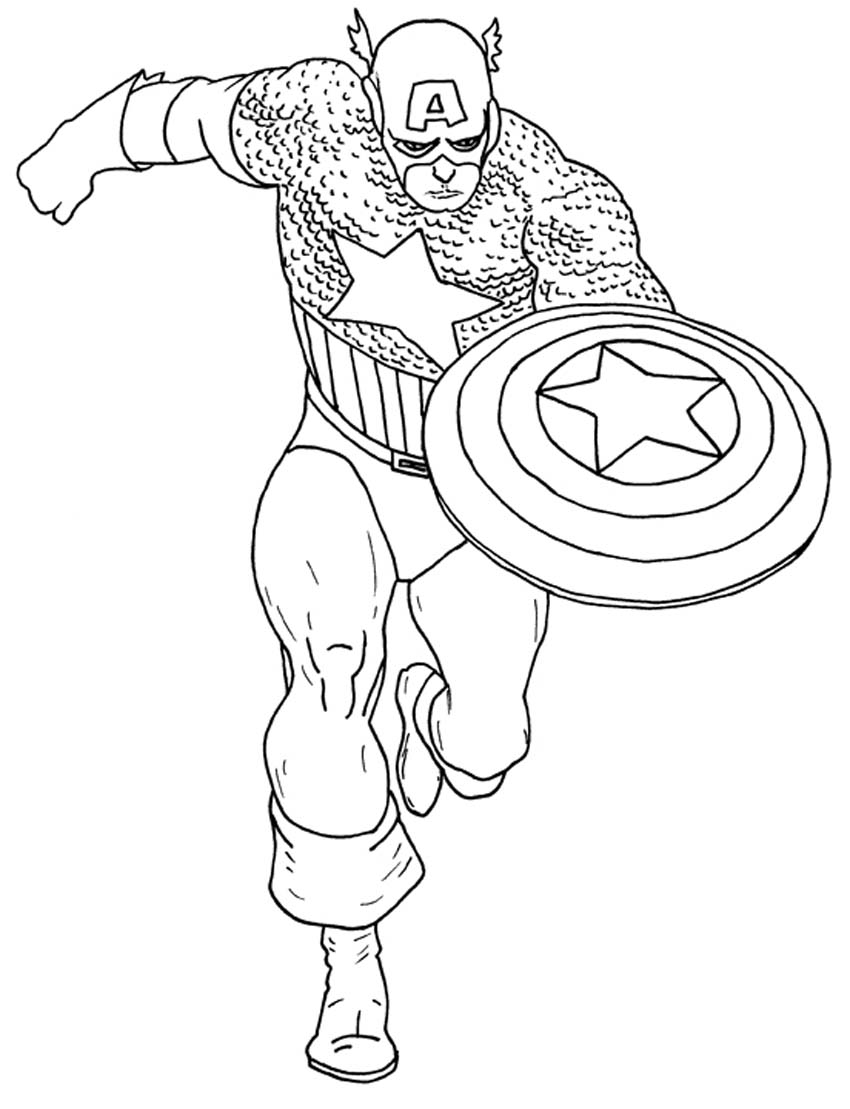 Free Coloring Pages Of Captain America Captain America Printable Coloring Pages