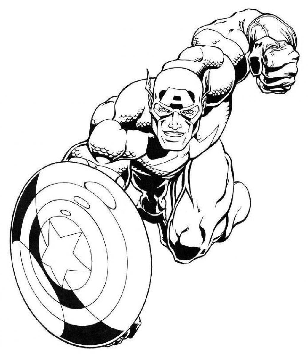 falcon avengers coloring pages - photo#36