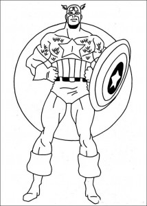 Captain America First Avenger Coloring Pages