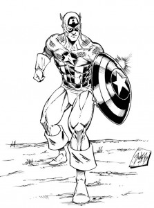 Captain America Free Coloring Pages