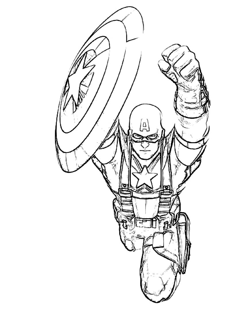 Captain Free Colouring Pages Captain America Printable Coloring Pages