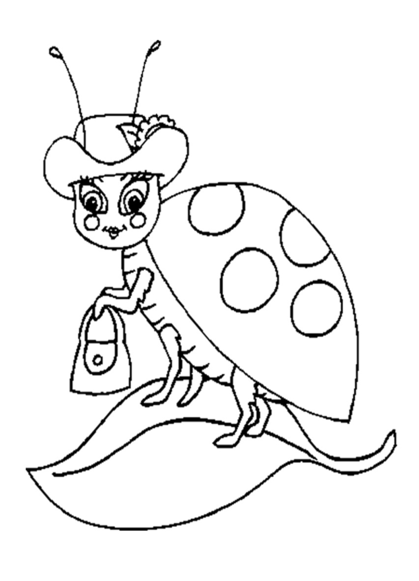 Coloring pages of ladybugs for kids - Ladybug Coloring Sheets