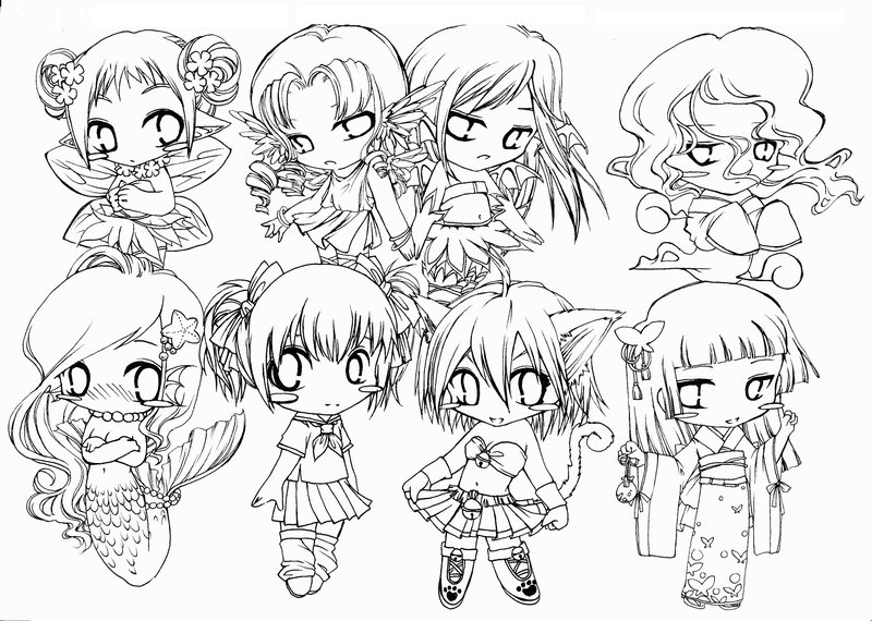 chibi melody coloring pages - photo#34