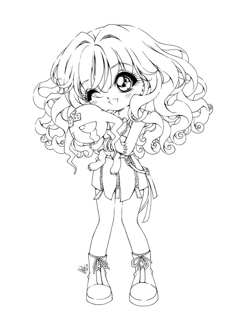 Anime Coloring Pages Chibi | Coloring Page