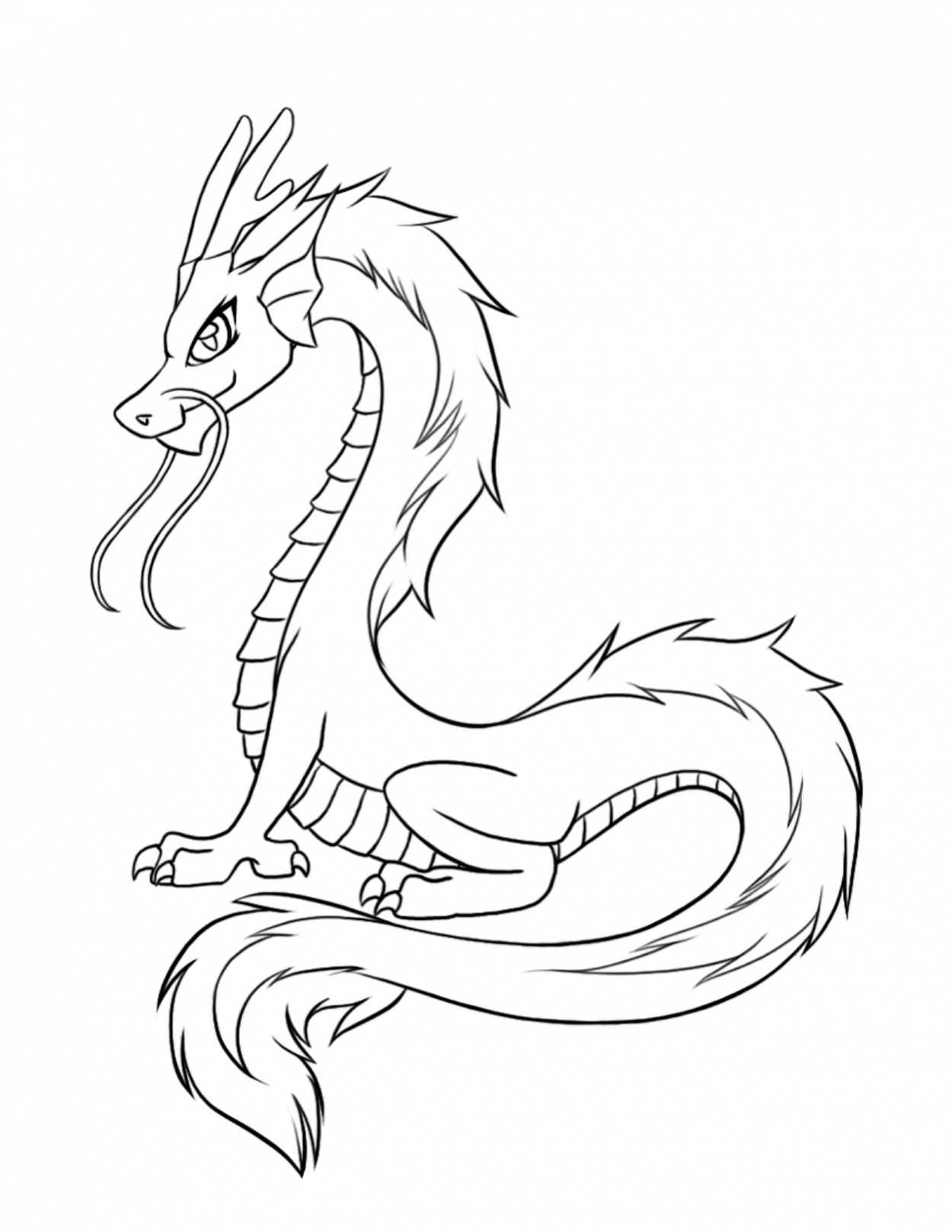 chinesse dragon coloring pages - photo#11
