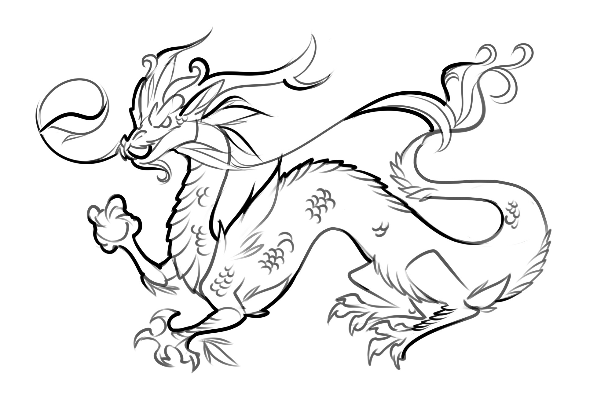 chinesse dragon coloring pages - photo#3