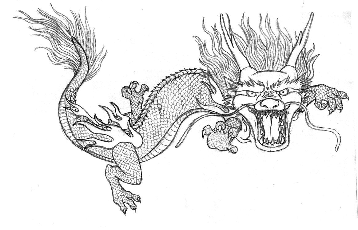 chinesse dragon coloring pages - photo#9
