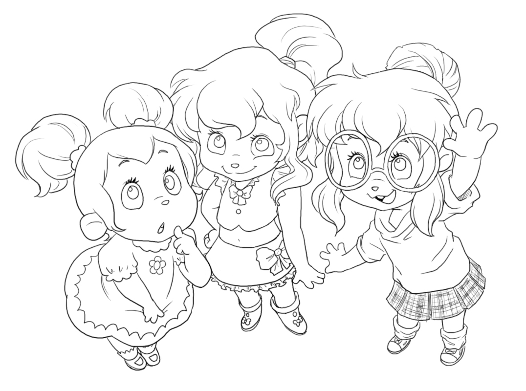 chipmunks chipettes coloring pages - photo#27