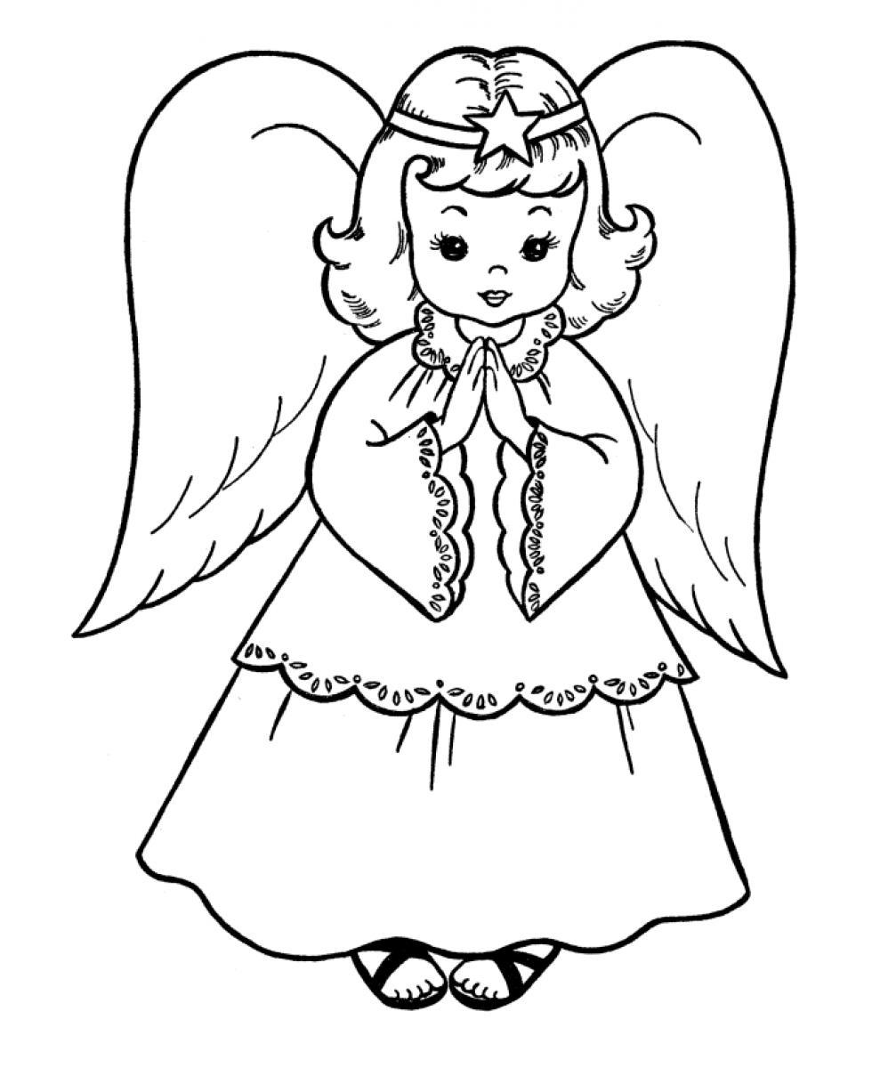 Coloring Pages Coloring Page Angel printable angel coloring pages me christmas pages