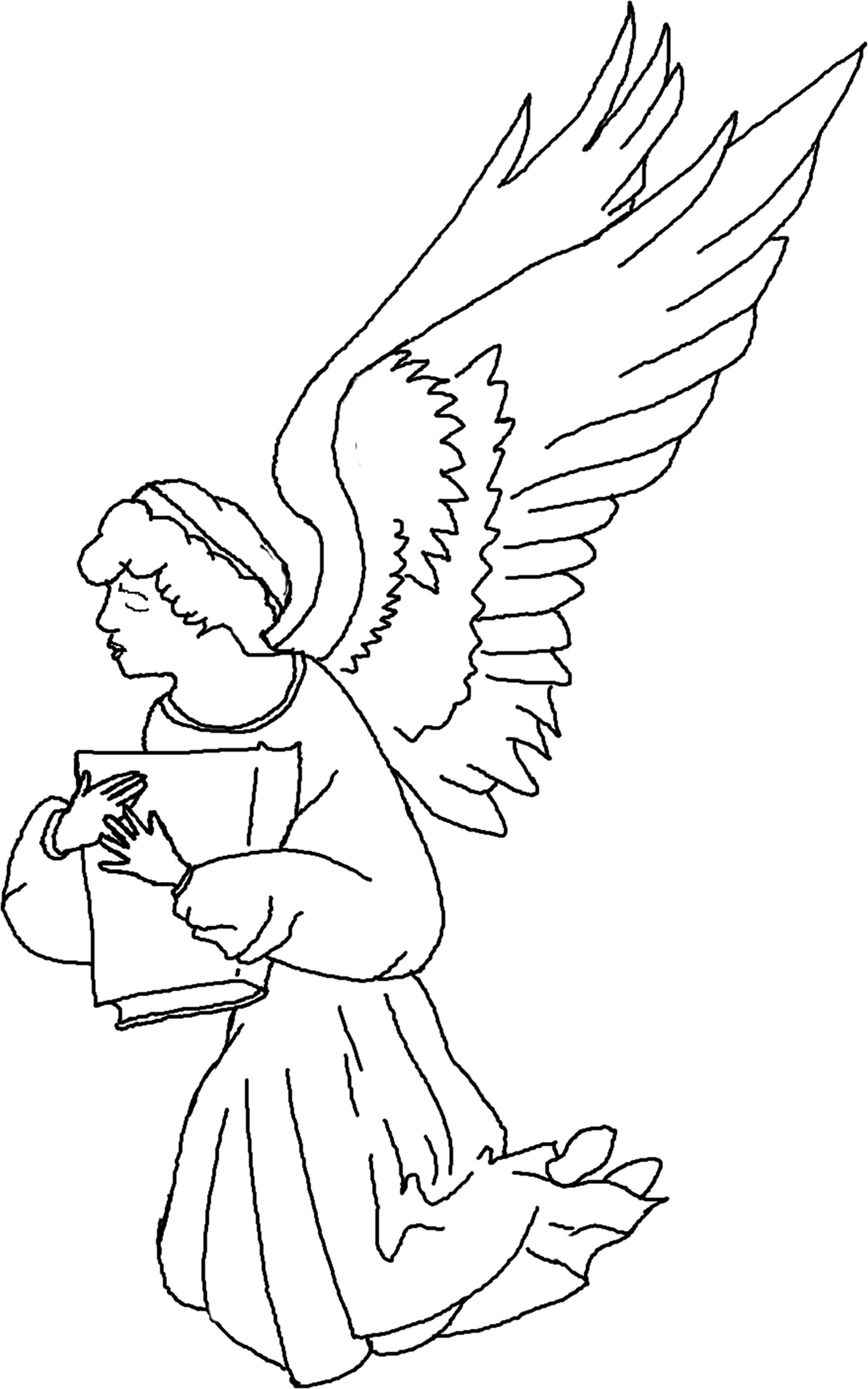 Christmas Angel Coloring Sheet