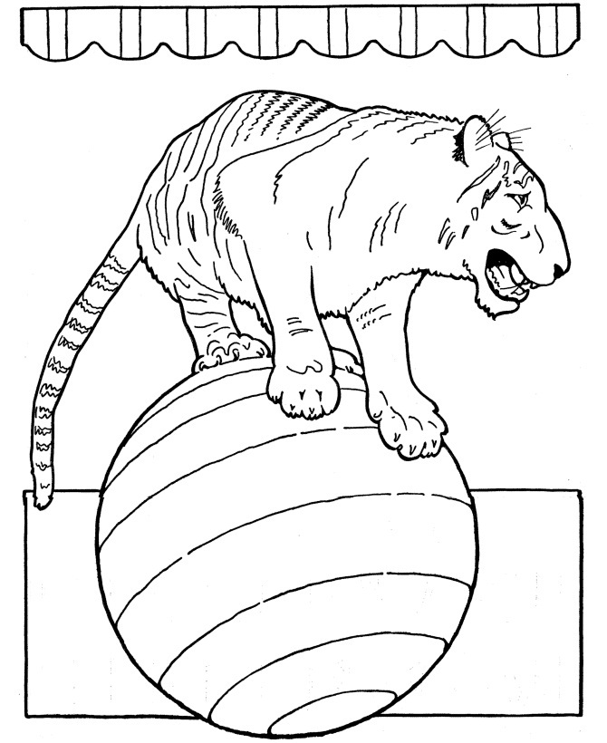 Printable Circus Coloring Pages | Coloring Me
