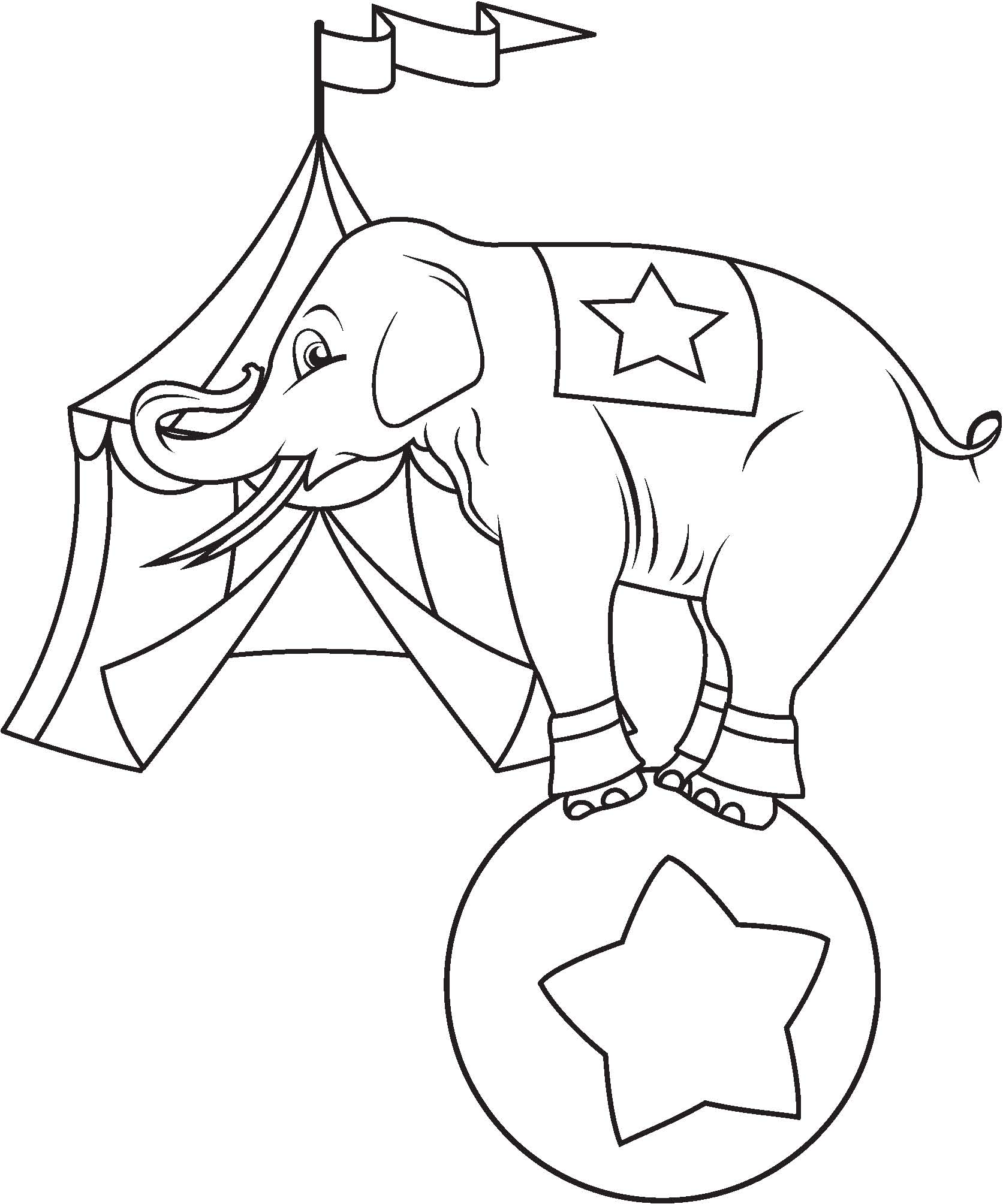 Circus Animal Coloring Sheets