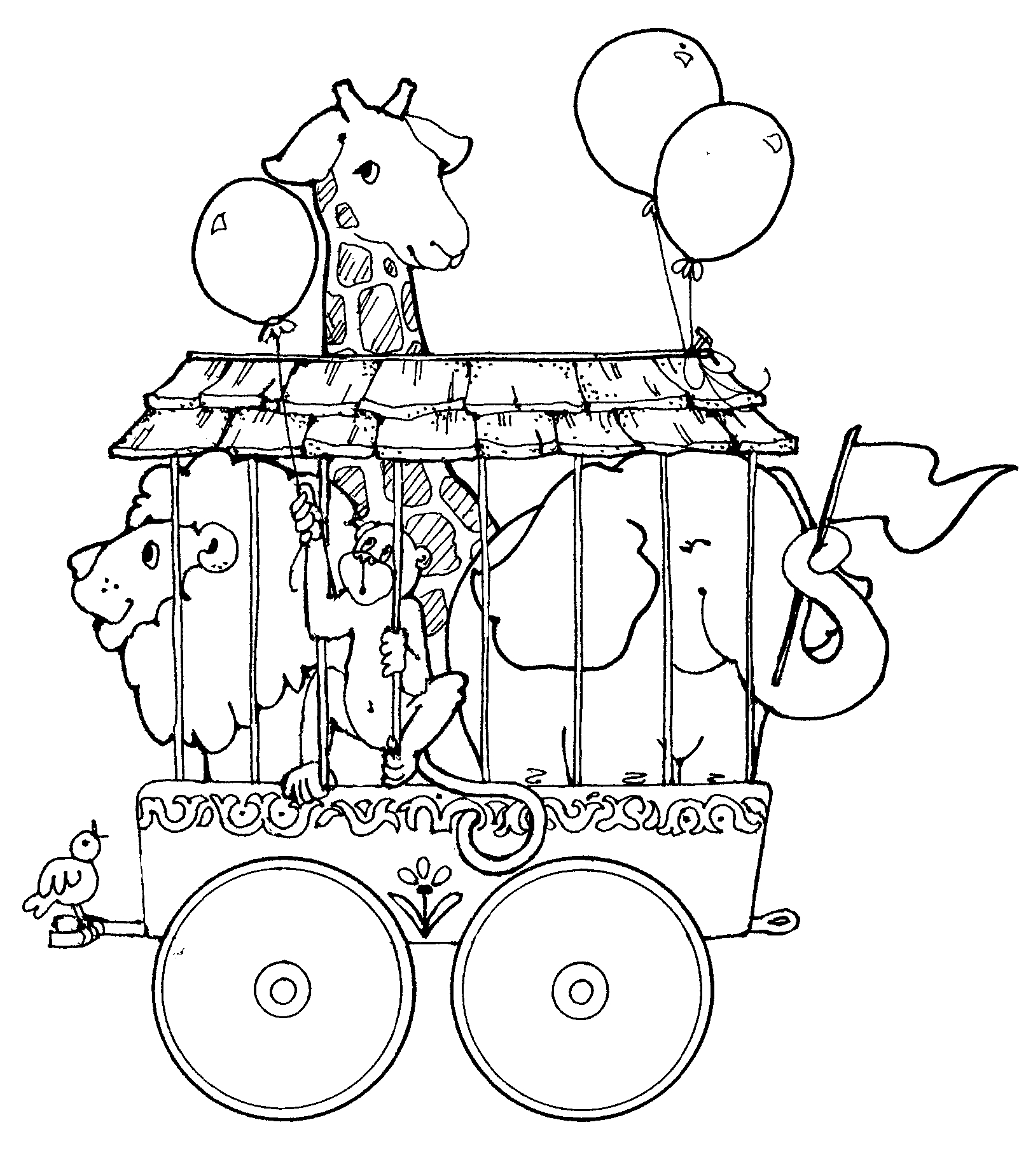 free downloadable circus coloring pages - photo#31
