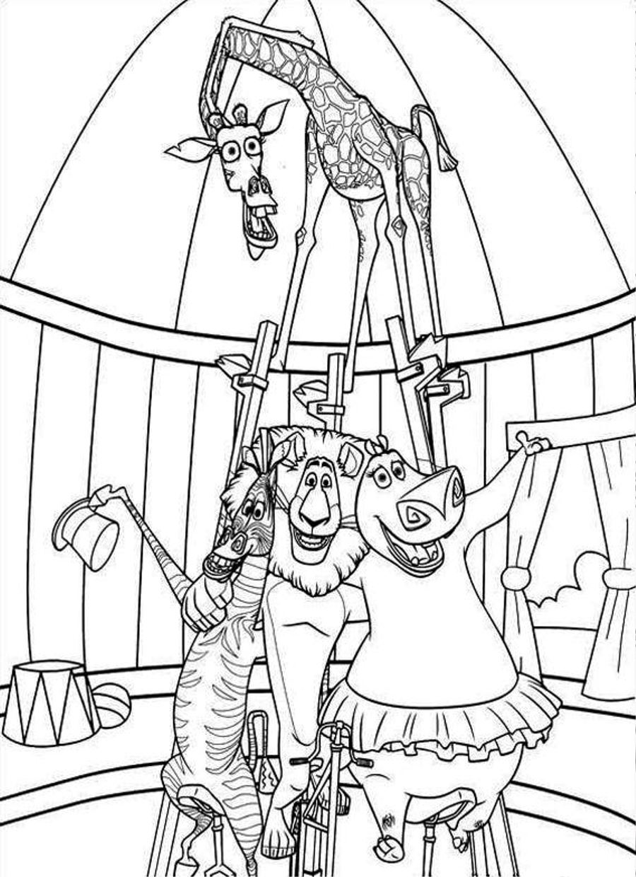 Horse coloring pages circus printable horse best free for Printable circus coloring pages