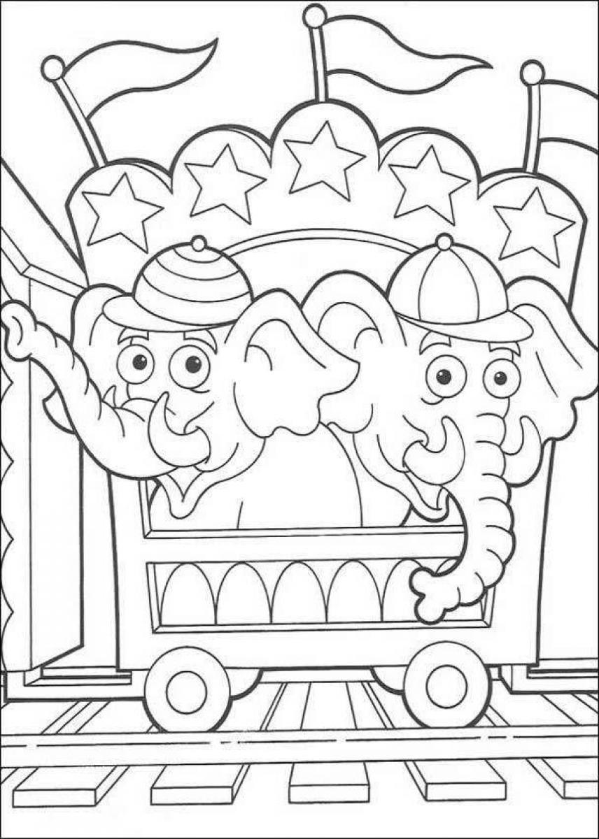 circus tent coloring pages preschool - photo#34