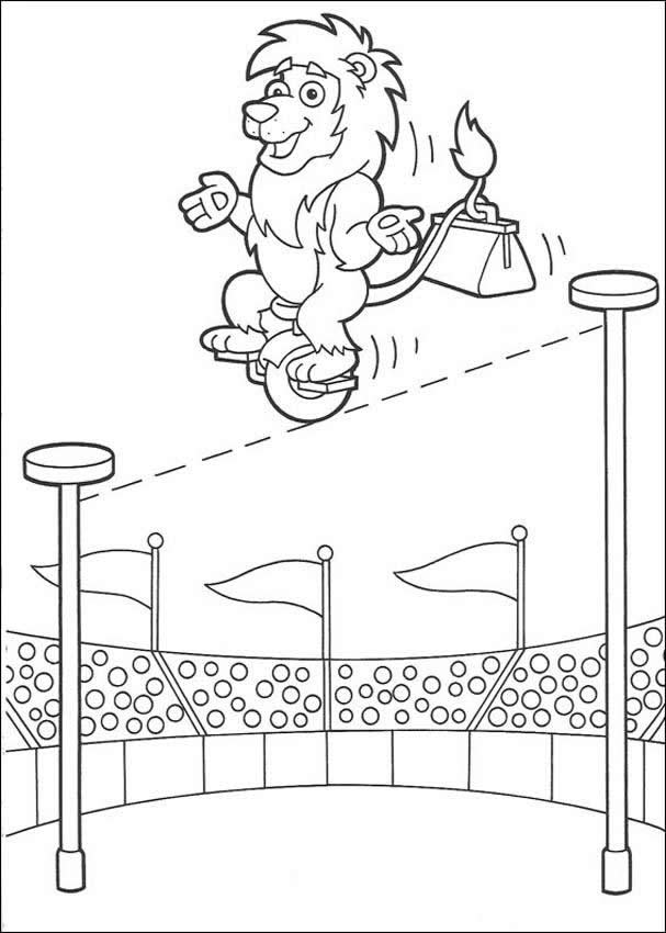 carnival monkey coloring pages - photo#47
