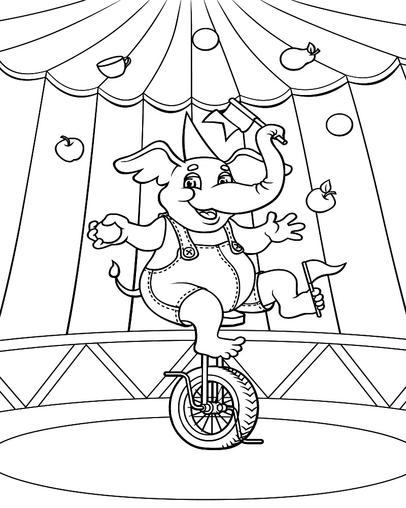 coloring pages of circus - photo#5