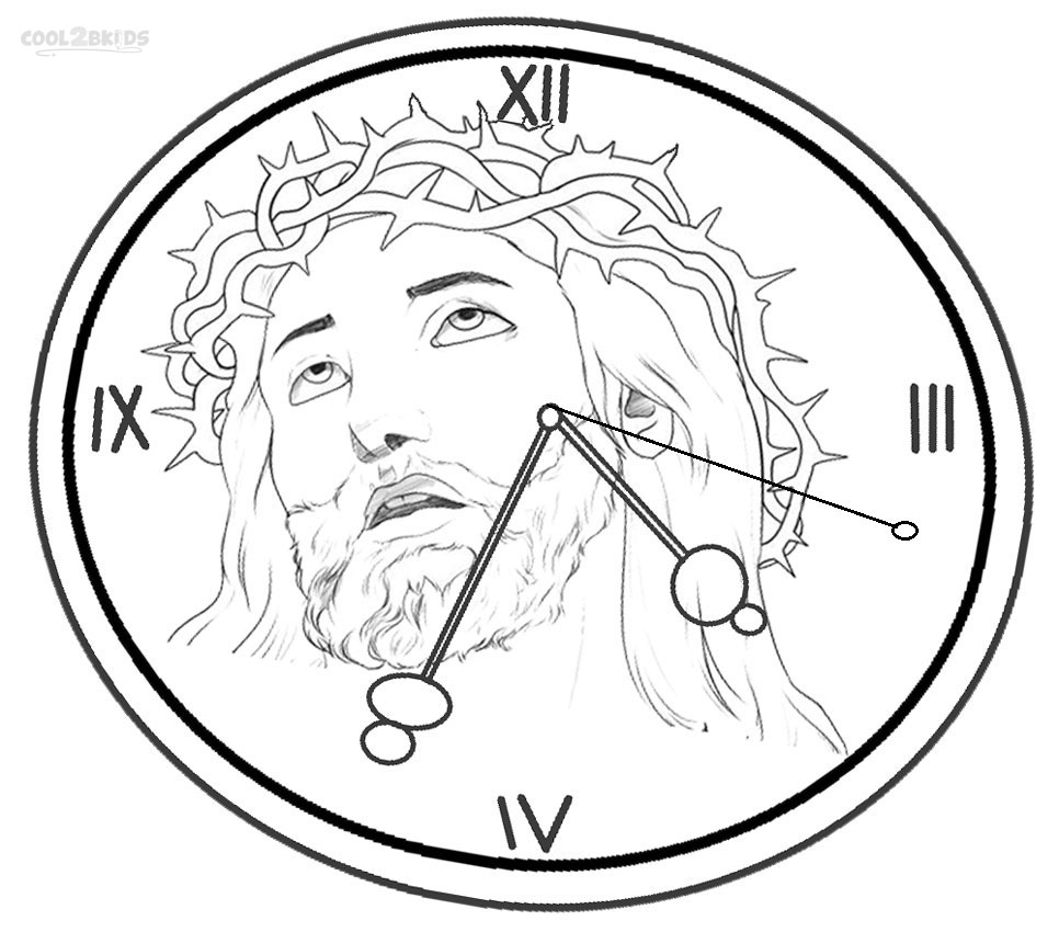 Printable Clock Coloring Pages Me