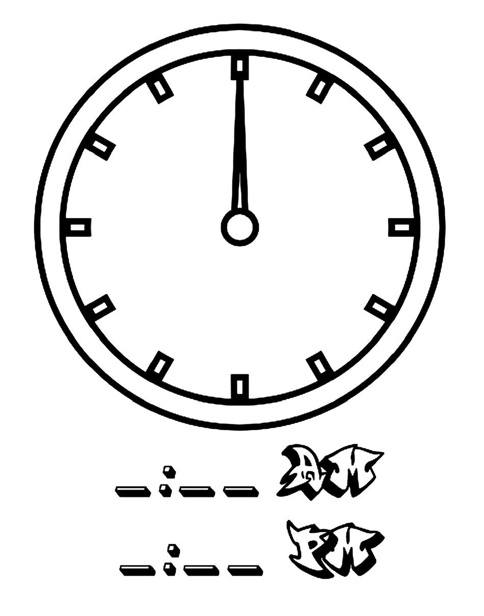 Printable Clock Coloring Pages Coloringme Com