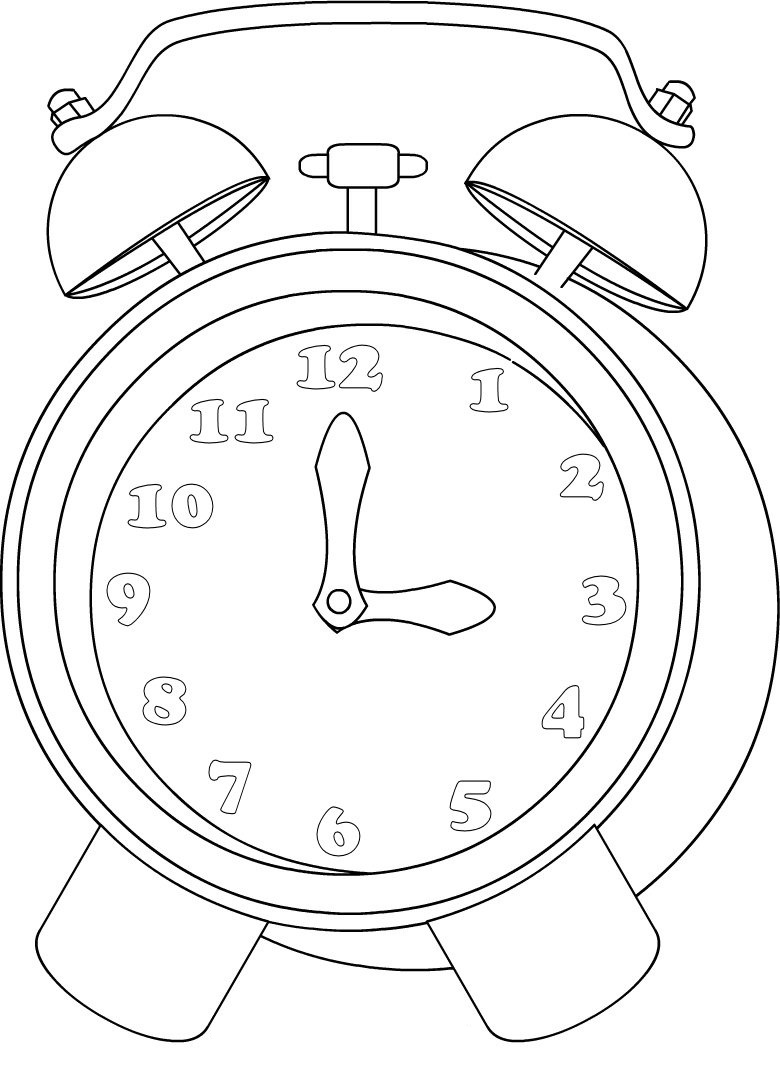 Clock Printable Coloring Pages Cuckoo Page