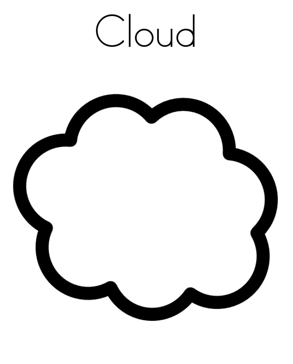 free cloud coloring pages - photo#30
