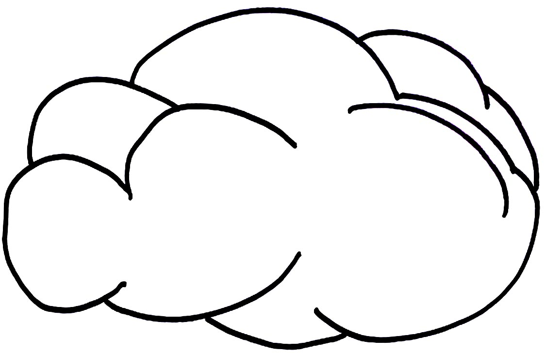 free cloud coloring pages - photo#9