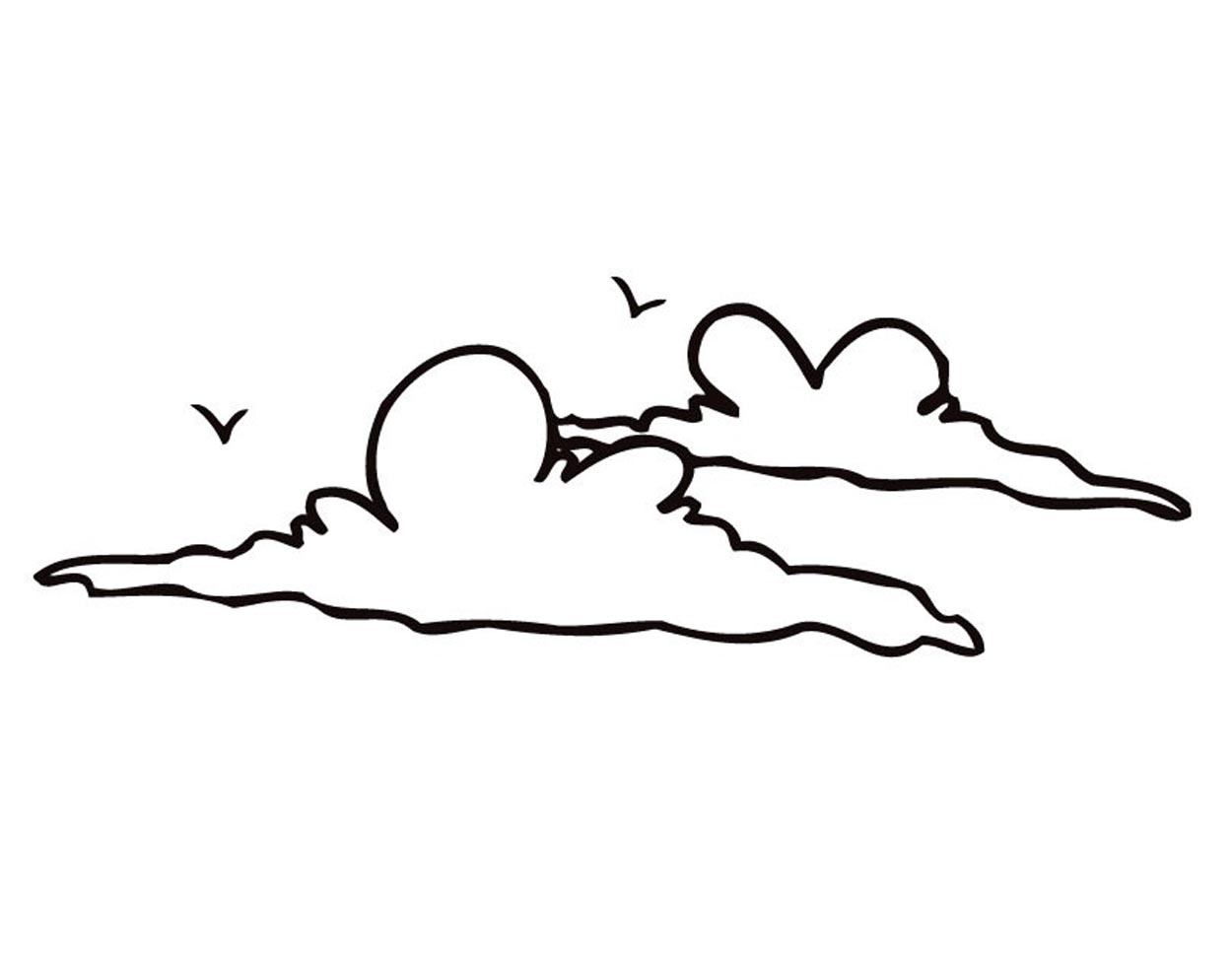 Printable Cloud Coloring Pages Coloringme Com
