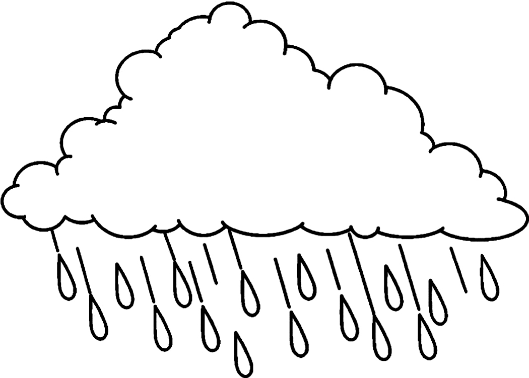 raindrop coloring pages clouds - photo#2