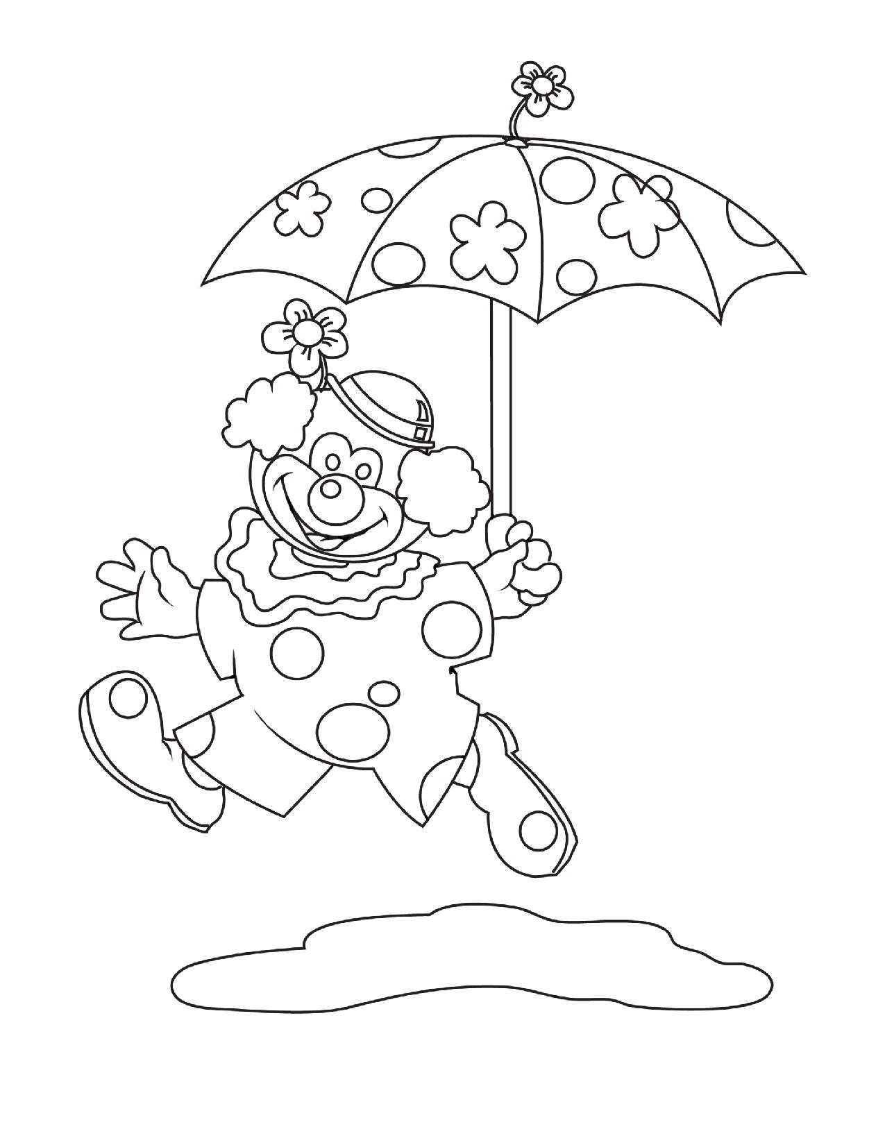 Clown costume coloring pages