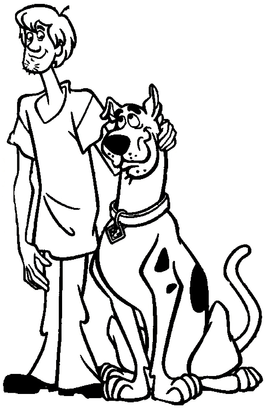 coloring pages scooby doo - Scooby Doo Coloring Pages