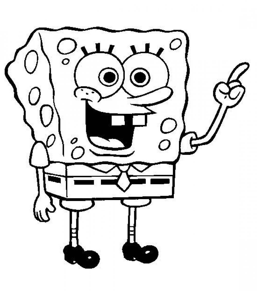 coloring pages of spongebob square - photo#2