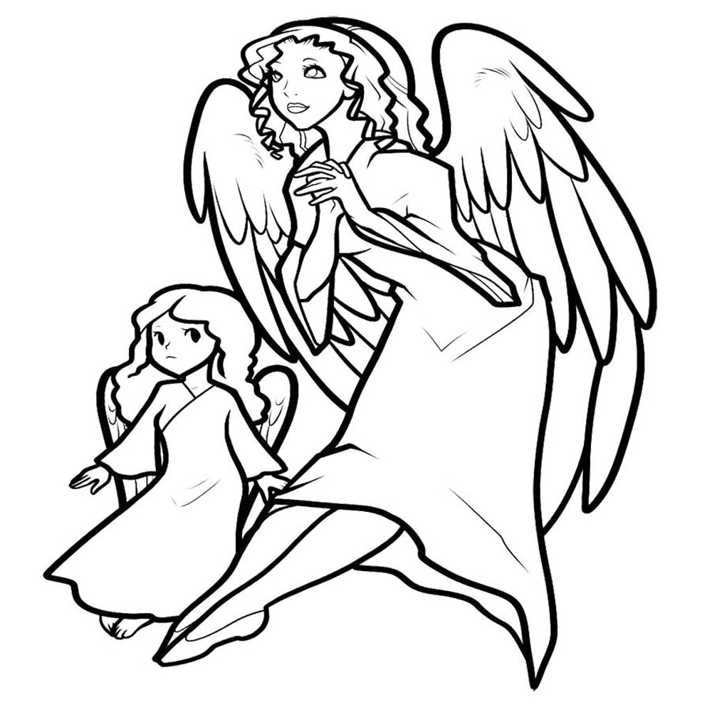 coloring pages angels - photo#11