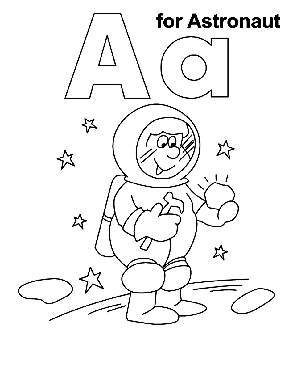Astronaut Outer Space Coloring Page - Coloring Home | 1188x950