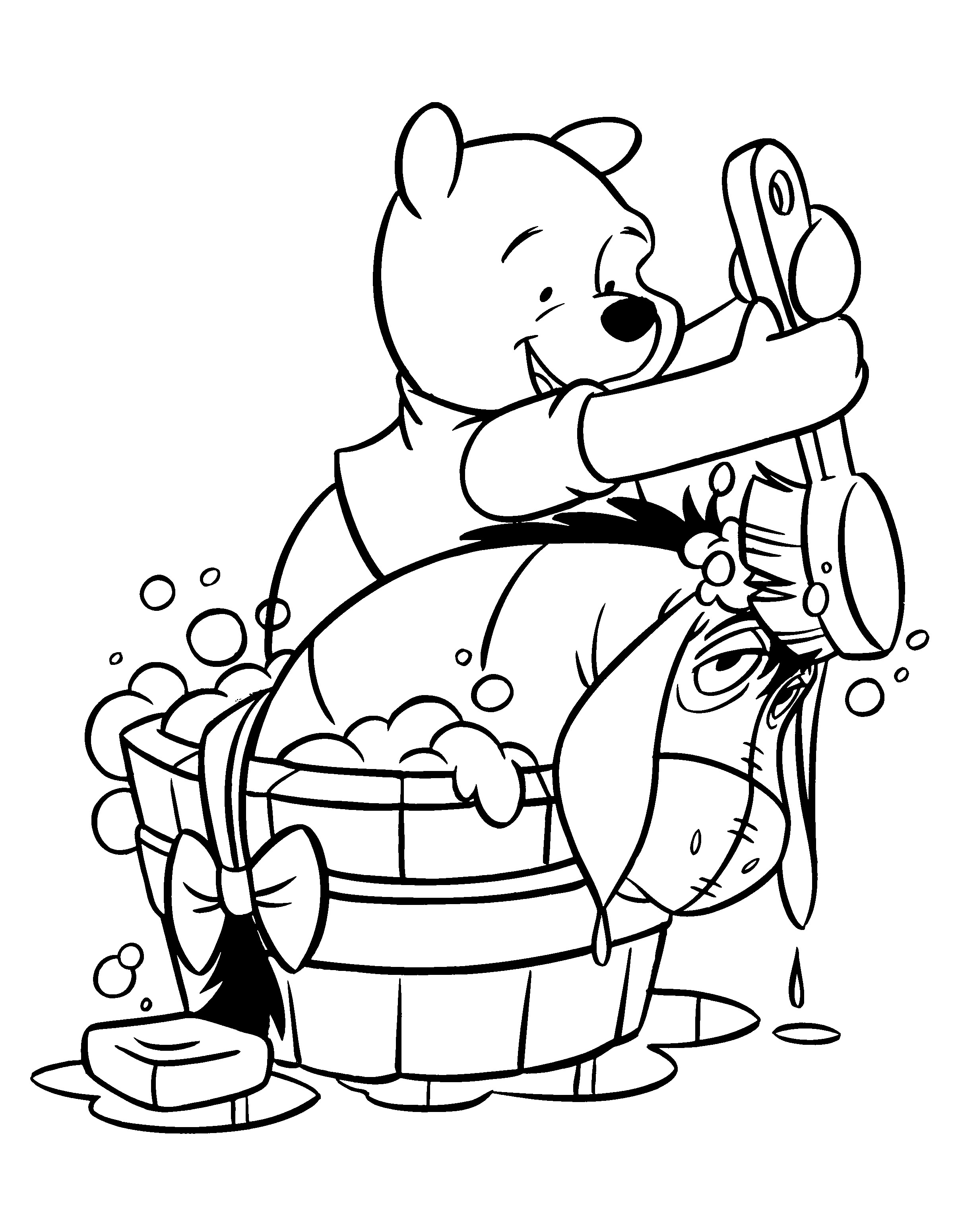 eeyore coloring book pages - photo#28