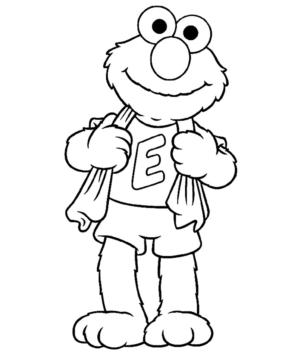cute elmo sitting coloring page elmo coloring pages for toddlers
