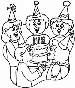 Coloring Pages of Happy Birthday