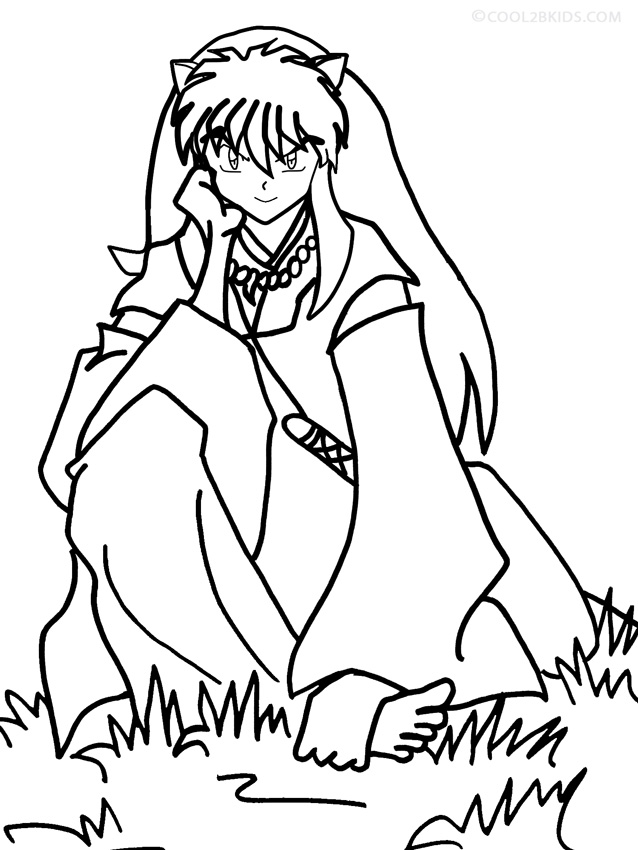 Inuyasha Character Coloring Pages