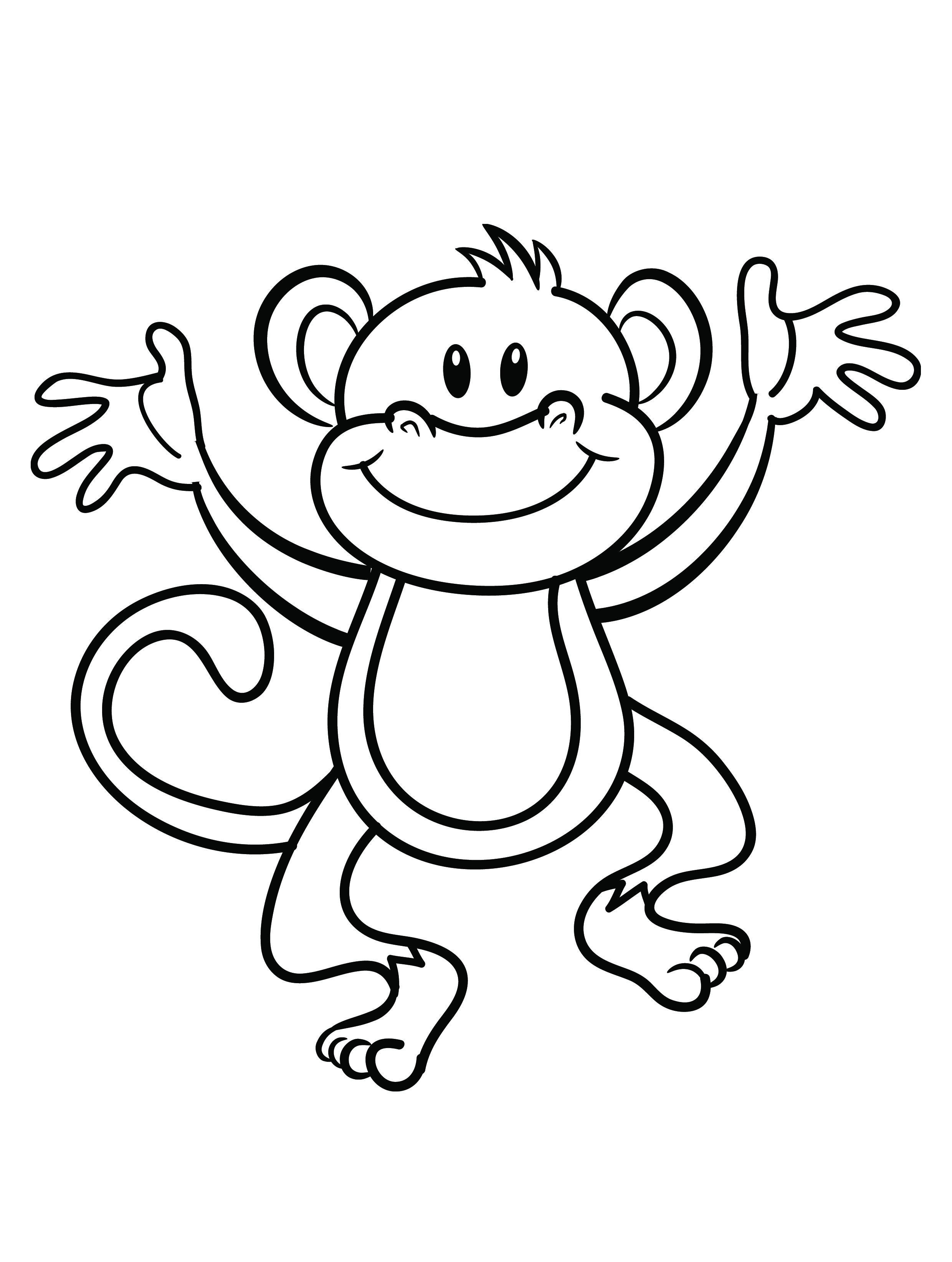 monkey coloring sheets - Monkey Coloring Page