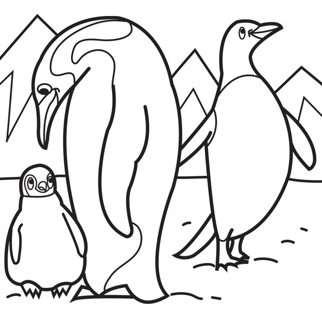 Free coloring pages of cartoon penguins for Free coloring pages of penguins