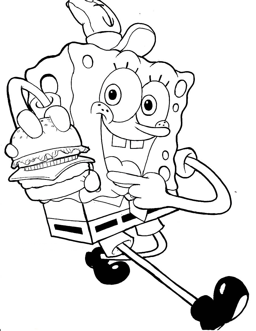 Under pants coloring page coloring pages for Spongebob squarepants coloring page