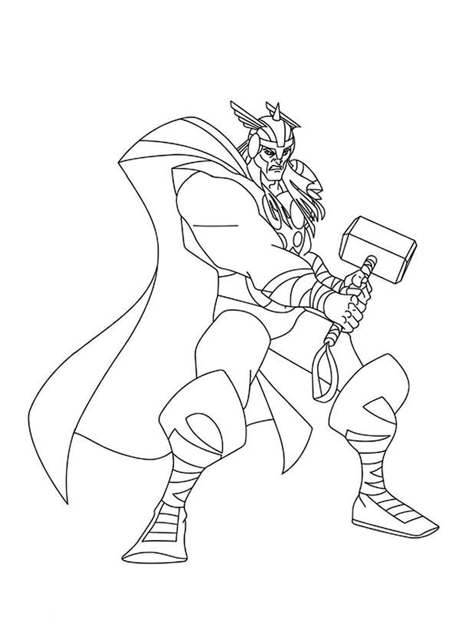 Free Thor Vs Hulk Coloring Pages Thor Coloring Pages
