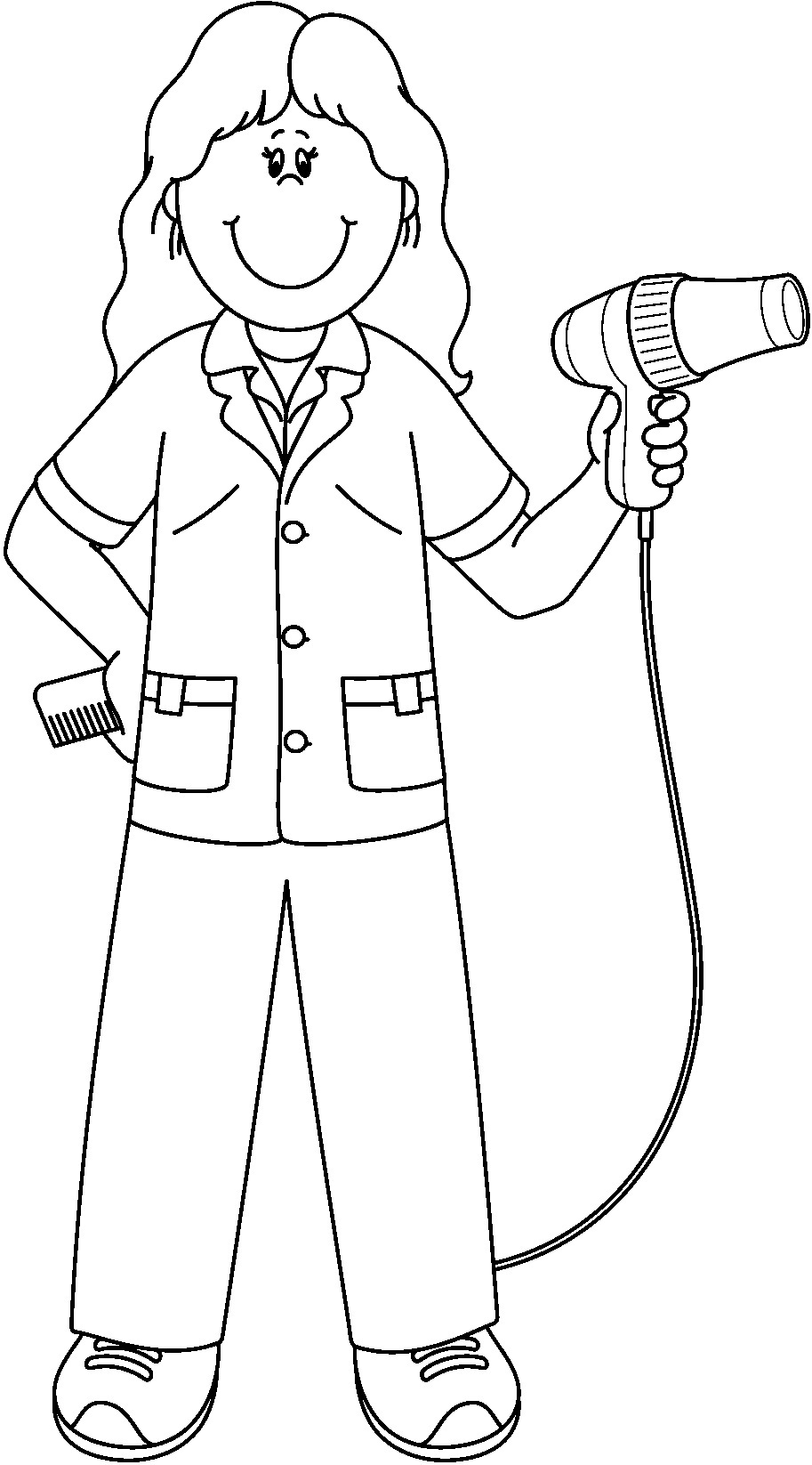It is a picture of Stupendous community helpers coloring page