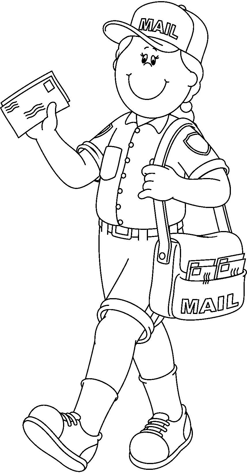 coloring pages community helper - photo#11