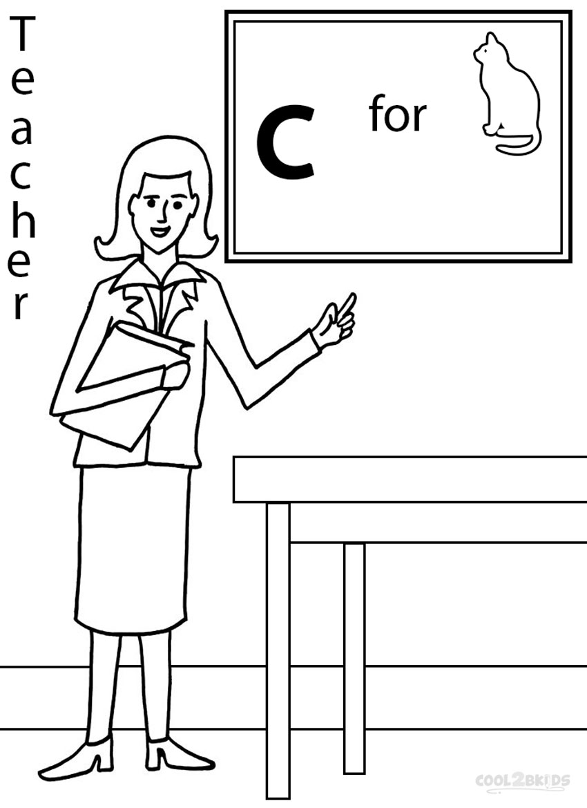 Free Coloring Pages Of Picture Of Teacher